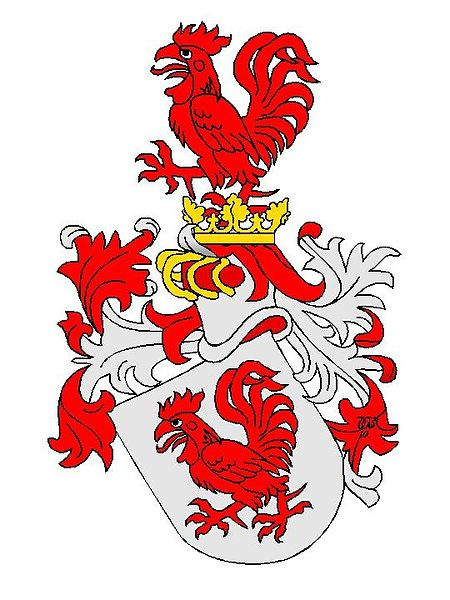 Hahn family crest Wikipedia license